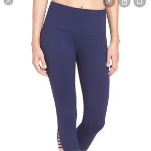 Gray Zella high waist crop yoga leggings